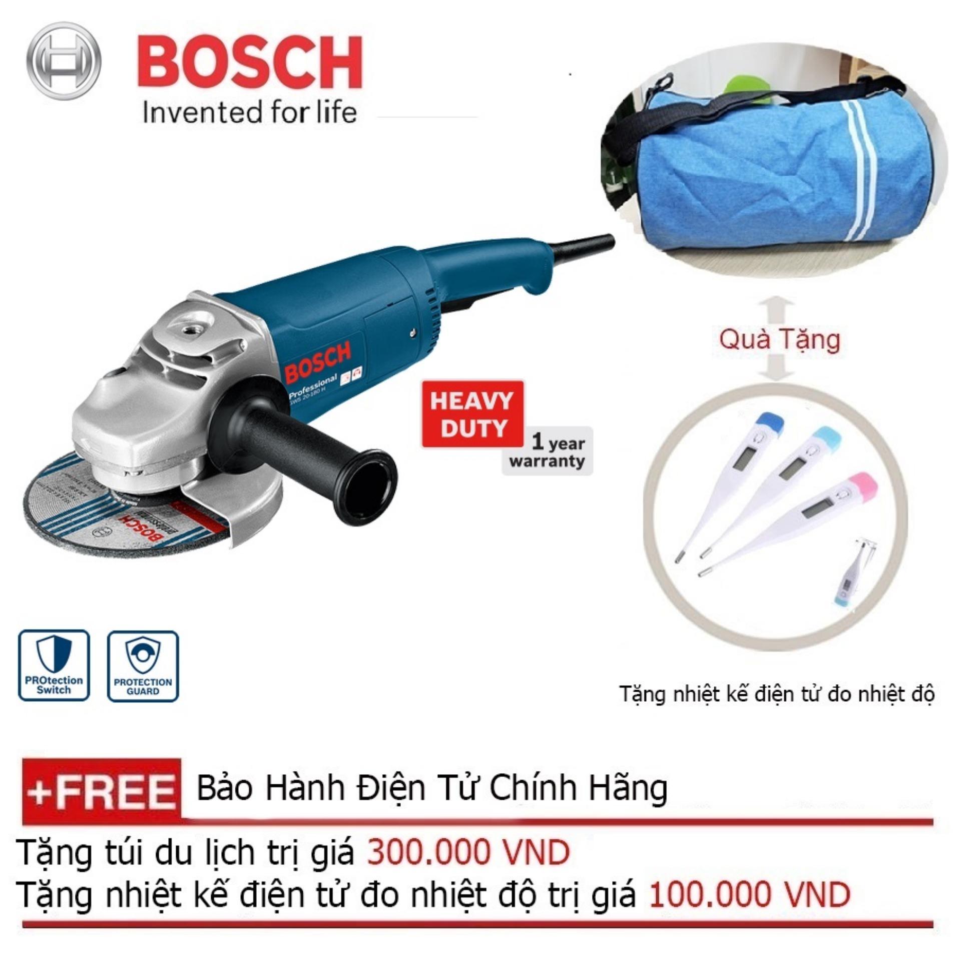 Máy Mài Góc Bosch GWS 20-180 + Quà tặng áo mưa
