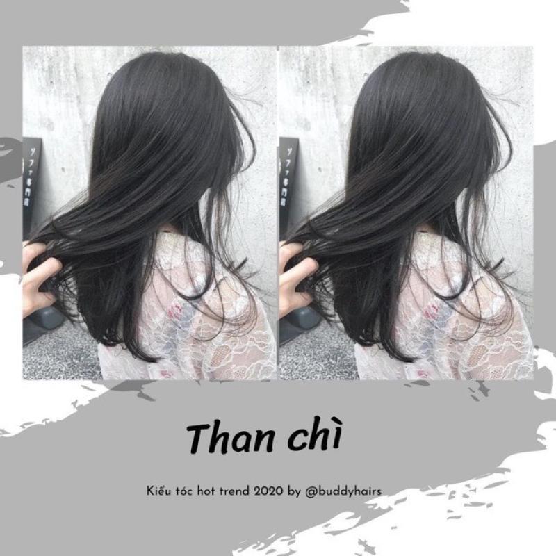 Tự nhuộm màu Đen than chì tại nhà, hàng nội địa Việt Nam, không gây hư tổn cho tóc (Trọn bộ tặng gang tay, trợ nhuộm) giá rẻ