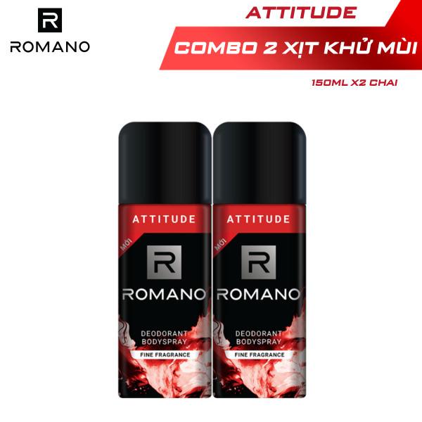 [Follow shop - 10k] Combo 2 Xịt toàn thân Romano Attitude nồng ấm cá tính 150ml