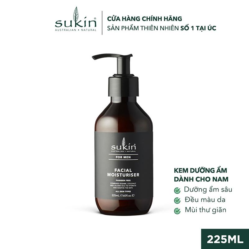 Kem Dưỡng Ẩm Dành Cho Nam Sukin For Men Facial Moisturiser 225ml SU42LA - NATURAL COSMETICS AUTRALIA