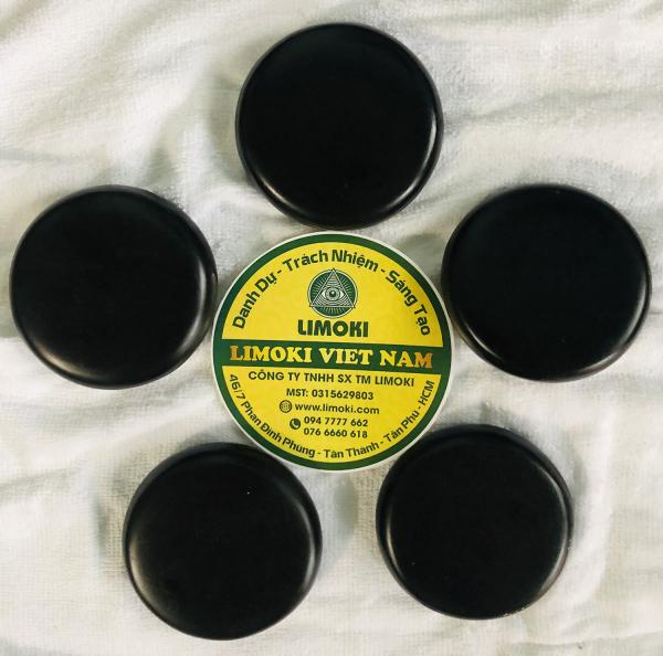 Bộ 5 Viên Đá Bazan Nóng Massage Tròn Trung 8x8x2cm