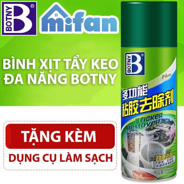Bình Xịt Tẩy Keo Băng Dính BOTNY Mifan - Làm sạch vết băng dính keo dán trên mọi bề mặt - HÀNG CHÍNH HÃNG LOẠI 1