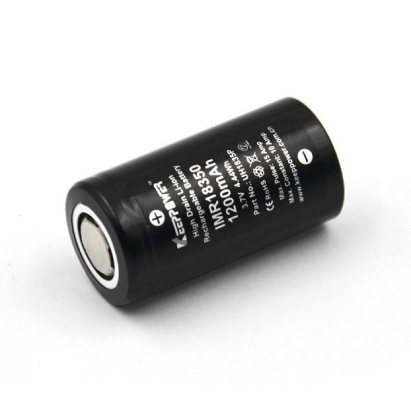 [P28] Pin Keeppower IMR 18350 3.7V 1200mAh 10A