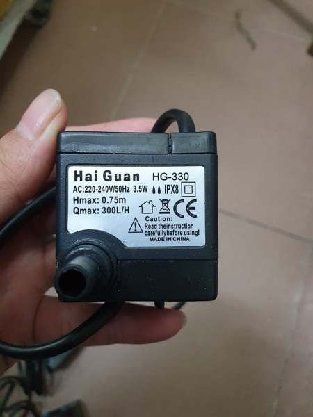 bơm quạt điều hòa hơi nước 3.5w