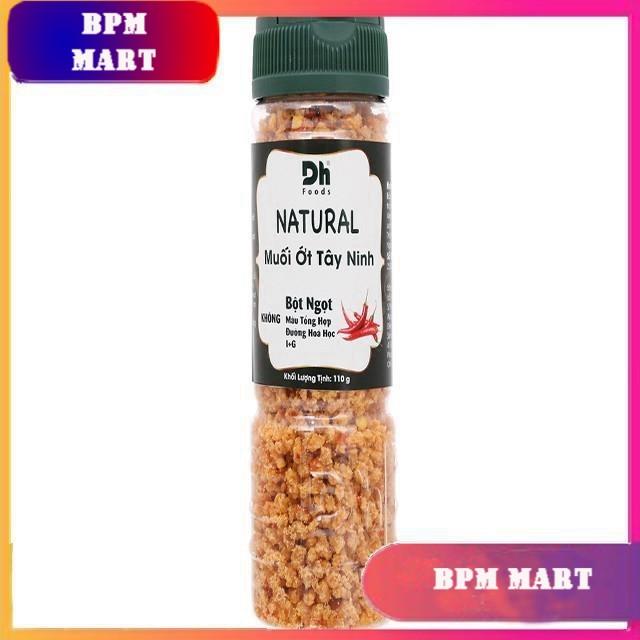 Muối ớt Tây Ninh Natural hũ 110g - Dh Foods - GIA VỊ NẤU ĂN - GIA VỊ NÊM NẾM - MUỐI CHẤM HOA QUẢ - BPMart