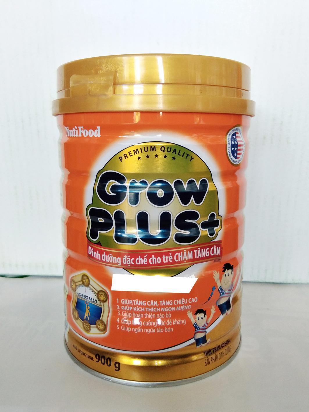 Sữa bột Grow Plus Cam nuti lon 900g