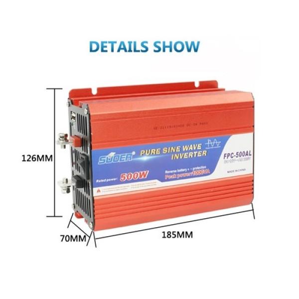 Bảng giá Bộ Inverter Pure Sin Wave 500W 12V 220V SUOER - FPC-500AL Phong Vũ