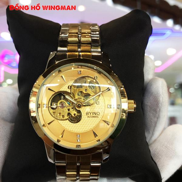 Đồng hồ , đồng hồ nam Byino N8082 Automatic, full box và thẻ bảo hành 3 năm, chống xước chống nước bán chạy