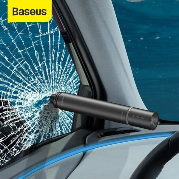 Đèn Pin kiêm búa phá kính thoát hiểm Baseus Savior Window Breaking Flashlight
