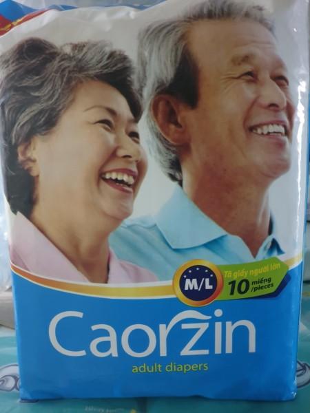 Combo 5 gói x 10 miếng/gói Tã dán CaorZin size M/L dành cho người già, mẹ mới sinh ( 42cm x 45cm x 20cm)