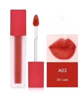 Son môi kem lì dưỡng mối cao cấp, không trôi, mềm, mẫu mới nhất siêu xinh siêu sang chanh - Thịnh Tửng Store Đỏ cam A03 thumbnail