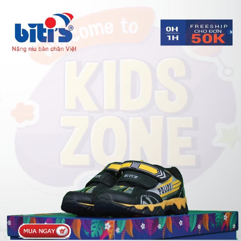 Giày Bitis Police trẻ em chống hôi chân cho bé, đế cứng bảo vệ chân bé trước mọi vật cản sắc nhọn, bảo hành tại của hàng trên toàn quốc 1 năm. giá rẻ
