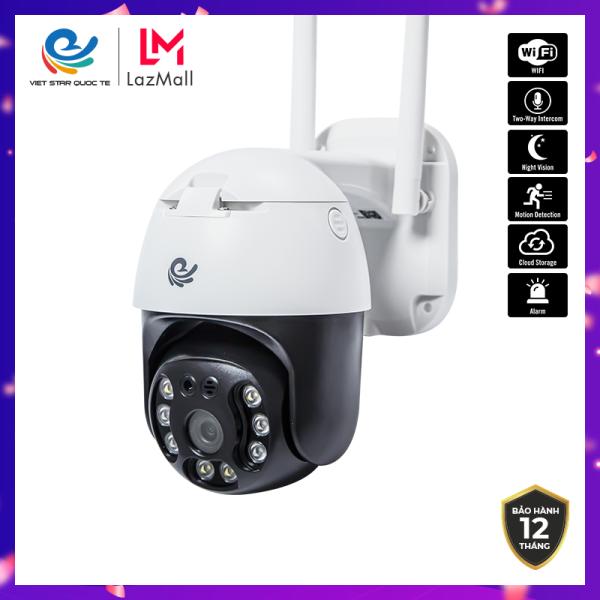 Camera WiFi IP VIET STAR ngoài trời xoay Chống Nước CC8031- Độ phân giải 3.0 MP- Full HD 1080P- Ban đêm hỗ trợ đèn LED có màu- Bảo hành 12 tháng-CCC8031