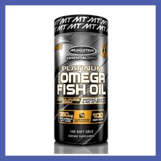 Viên bổ sung giúp đep da chống lão hóa sáng mắt Dầu Cá Omega3 Fish oil Muscletech Platinum 100% Omega 3 Fish Oil 100 viên từ Mỹ - CHÍNH HÃNG thumbnail