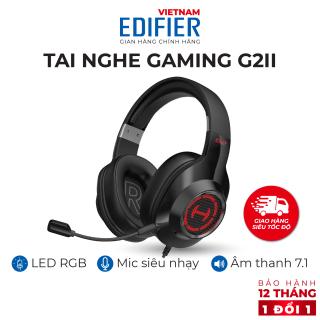 [VOUCHER 8%] Tai nghe gaming 7.1 EDIFIER G2 II Bản quốc tế mới nhất - Ngôn ngữ tiếng Anh - Hỗ trợ Mic chống ồn - Âm thanh giảm lập 7.1 - Hàng phân phối chính hãng - Bảo hành 12 tháng 1 đổi 1 thumbnail