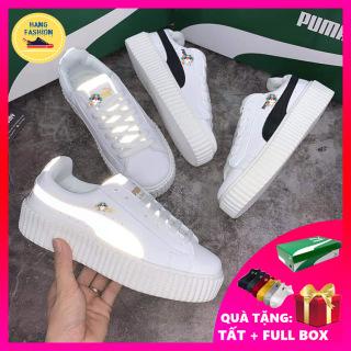 (Hàng VNXK- Video thật) Giày thể thao nam nữ pumaa sneaker phản quang nam nữ chất liệu da cao cấp chống nước Hot 2020 mang phong cách, êm chân, cực bền, giày nam trắng mang đi học, đi chơi cực đẹp thumbnail