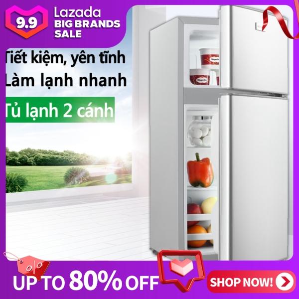 Tủ lạnh 2 ngăn 118 lít thương hiệu ZHIGAO làm lạnh nhanh ngăn đá và ngăn lạnh giữ đồ luôn tươi mới happy family