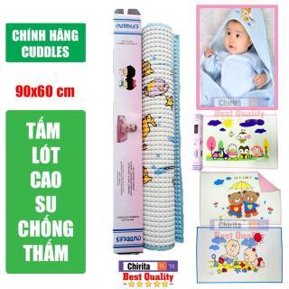 Nệm Cao Su Non 100% Cho Bé LOẠI TỐT - Miếng Lót Sơ Sinh CUDDLES Cao Cấp Cho trẻ sơ sinh - Tấm lót chống thấm cho bé thumbnail
