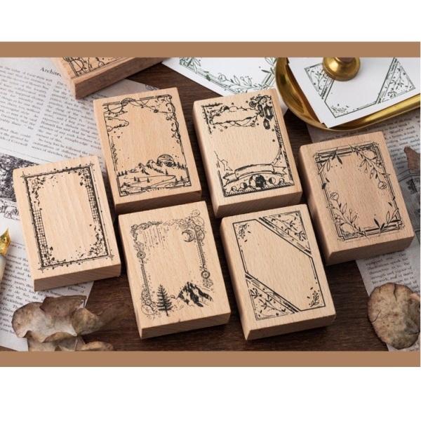 Mua Con Dấu Gỗ Wooden Stamp phong cách vintage  trang trí bujo nhật ký sổ tay