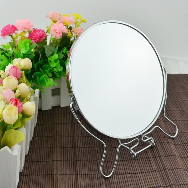 Gương trang điểm để bàn 360 độ ( 2 size, 1 mặt gương bình thường 1 mặt gương phóng đại) giá rẻ
