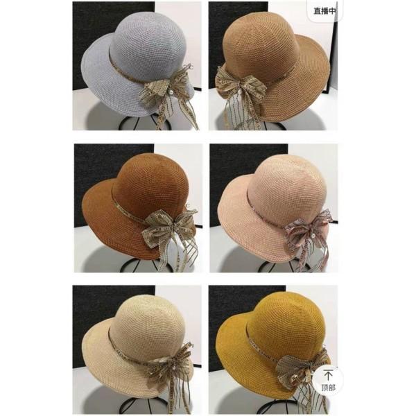Giá bán Mũ Cói Gắn Nơ-Mũ đi biển vành nhỏ siêu xinh- phong cách Hàn Quốc siêu hot