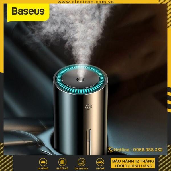 Máy phun sương tạo ẩm chuyên dùng cho xe hơi Baseus Moisturizing Car Humidifier (300ml, Alloy Air Humidifier Aroma)