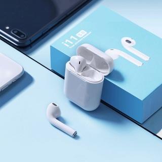 Tai nghe Bluetooth i11S Hỗ Trợ Mọi Dòng Máy , Tai Nghe Bluetooth Mini, Tai nghe Không Dây Tai nghe Nhét Tai Không Dây i11, Tai Nghe Bluetooth Pin Trâu i12 - Tai nghe buetooth thumbnail