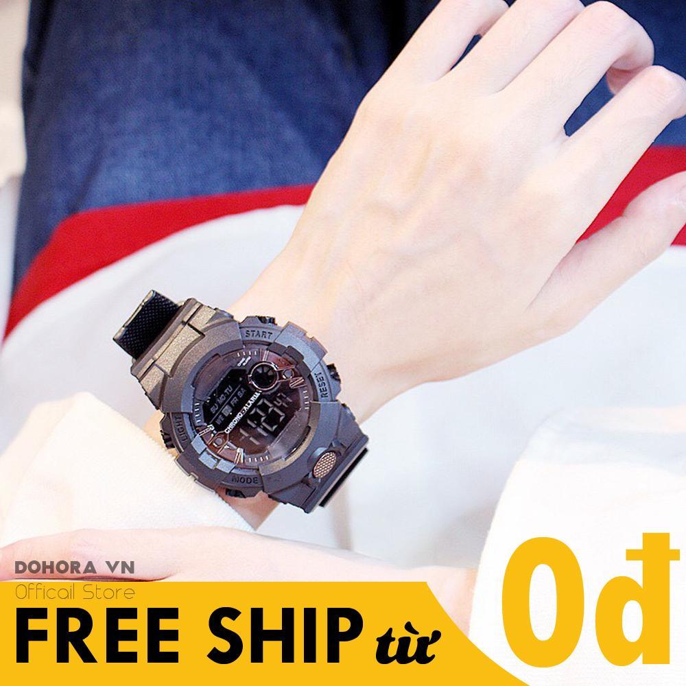 Đồng hồ thời trang, Đồng hồ nam, nữ, Đồng hồ Sport, Đồng hồ điện tử, Đa chức năng, Dây nhựa, Chống nước, Kiểu dáng trẻ trung, năng động D44 bán chạy
