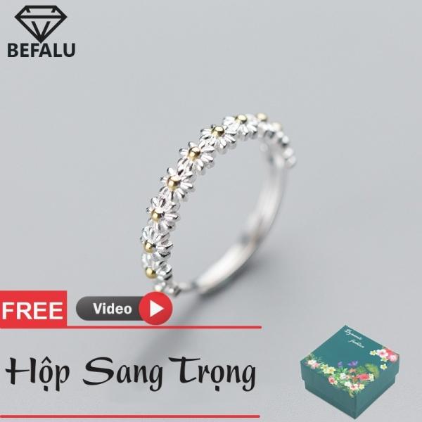 Nhẫn Nữ Bạc 925 Bông Hoa Phong Cách Hàn Quốc N14 Freesize- BEFALU