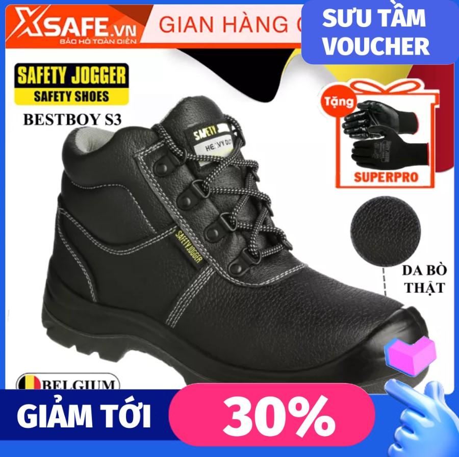 [HCM]Giày bảo hộ lao động nam Jogger Bestboy S3 cổ cao da bò thật chống nước tiêu chuẩn bảo hộ S3 Châu Âu kiểu dáng thể thao cao cấp - Giày SafetyJogger chính hãng XSAFE