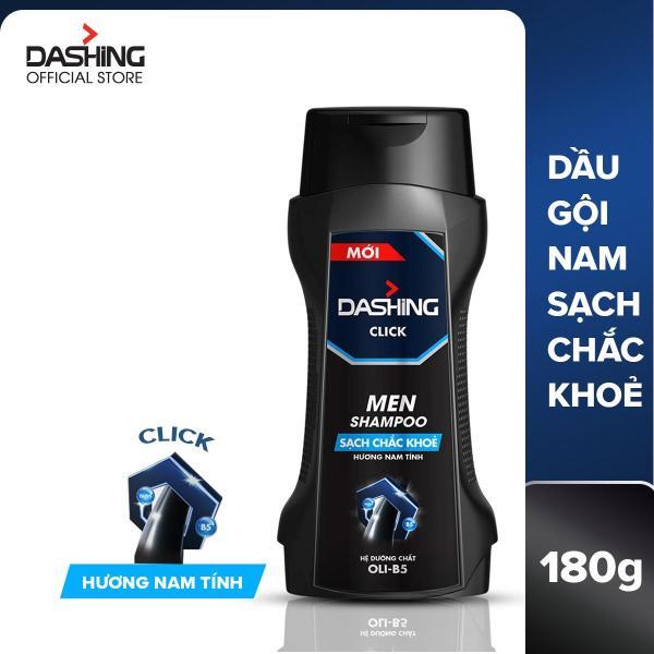 Dầu gội Dashing Click sạch chắc khỏe dành cho nam giới 180g, thành phần an toàn, không gây kích ứng da đầu, phù hợp với mọi loại da đầu giá rẻ