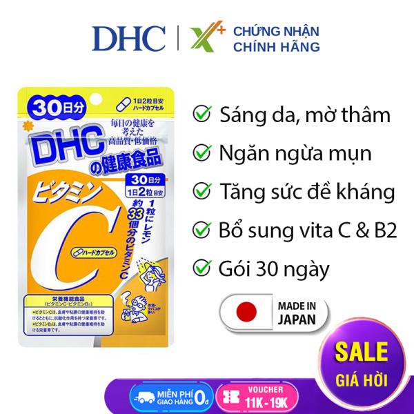 Viên uống Vitamin C DHC Nhật Bản thực phẩm chức năng giúp tăng cường đề kháng, sáng da & tăng sản sinh collagen gói 30 ngày XP-DHC-C302 nhập khẩu