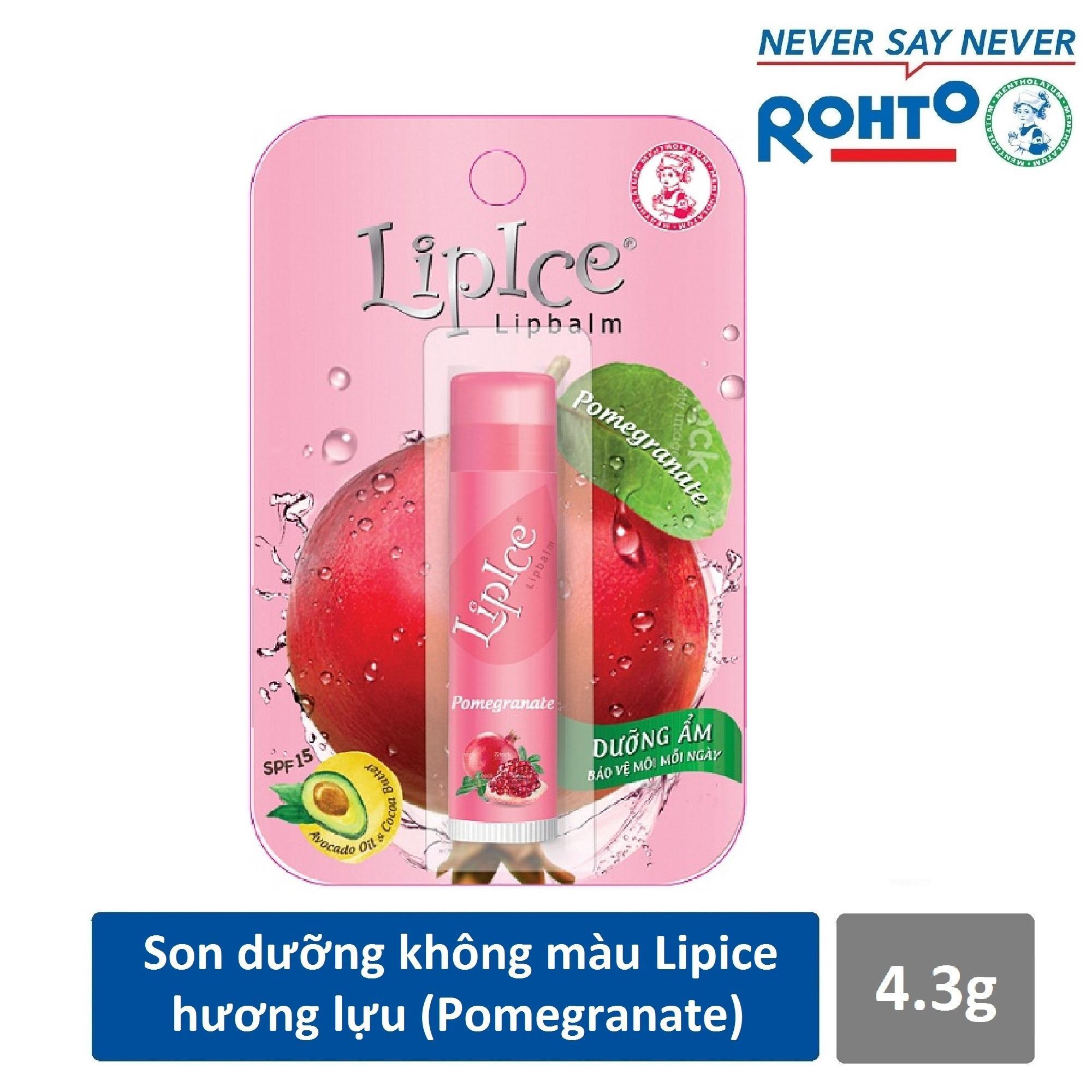 Son dưỡng không màu LipIce hương Lựu 4.3g