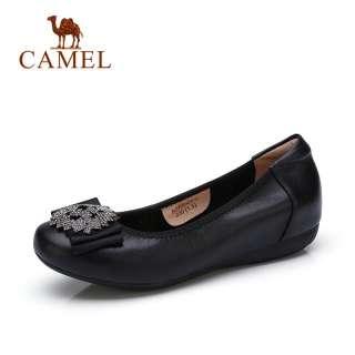 CAMEL giày búp bê nữ đế bệt chất liệu mềm cao cấp có nơ nữ tính - INTL