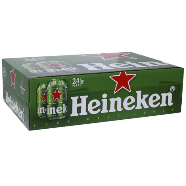 Heineken thùng 24 lon 330ml date mới giá tốt mẫu xuân