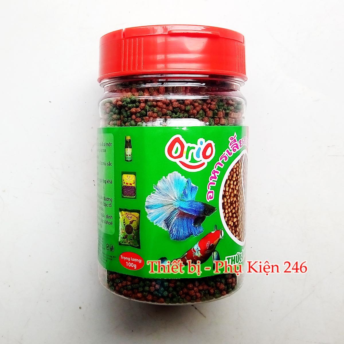 Hộp Thức ăn cá Orio giúp cá khỏe và lên màu 100gram