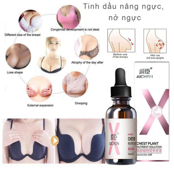 [Nâng ngực nhanh chóng trong ] tinh dầu nở ngực nâng ngực, khắc phục tình trạng chảy xệ sau sinh.Ngực to hơn tự tin hơn