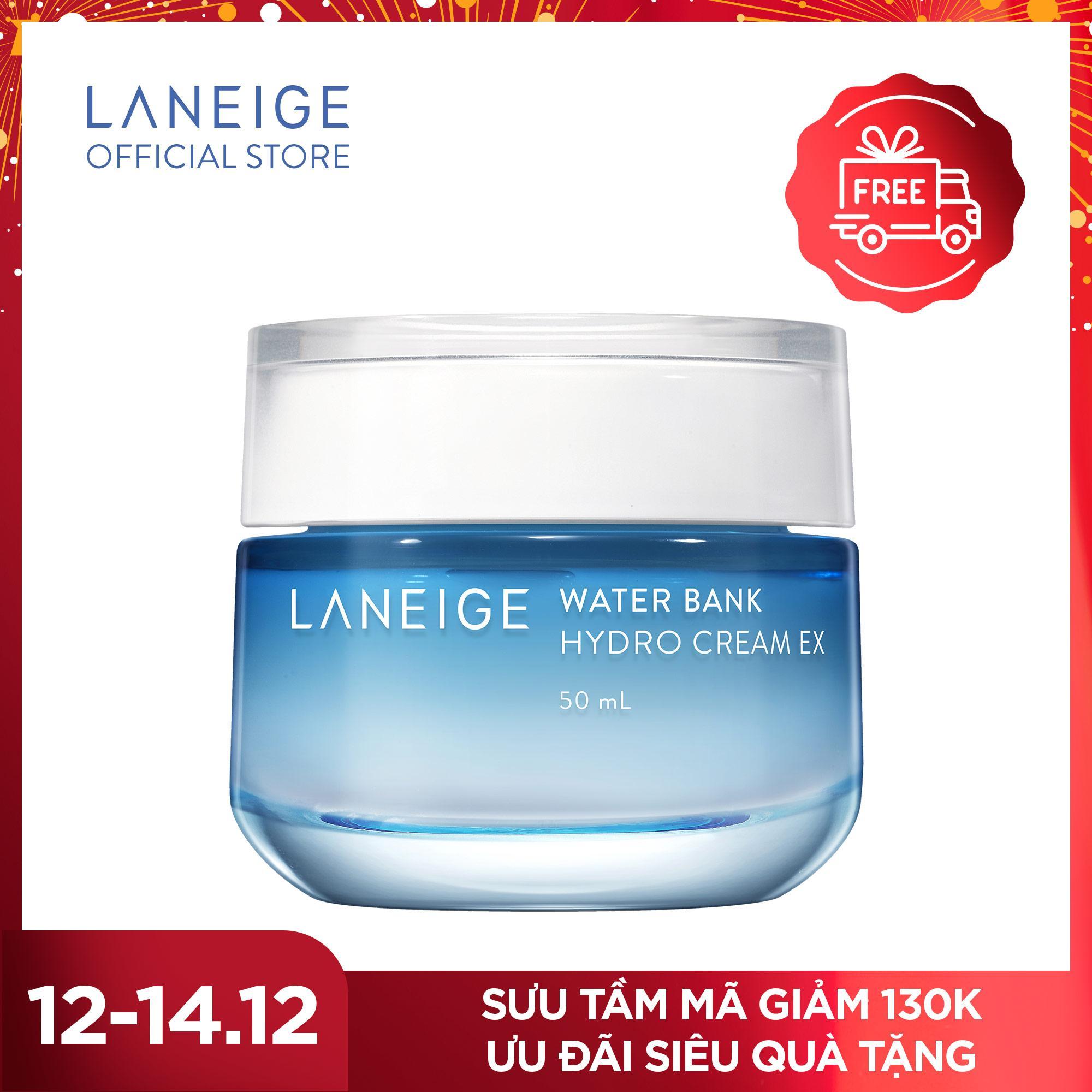 Kem Dưỡng ẩm Với Thành Phần Nước Khoáng Xanh Water Bank Hydro Cream EX 50ml Giá Rất Tiết Kiệm