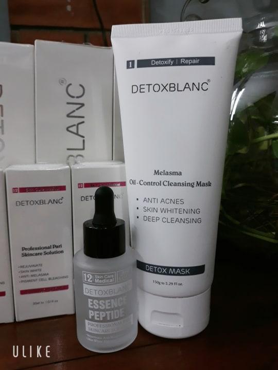 Combo Serum trị nám Và Mặt Nạ sủi bọt thải độc Detox BlanC nhập khẩu