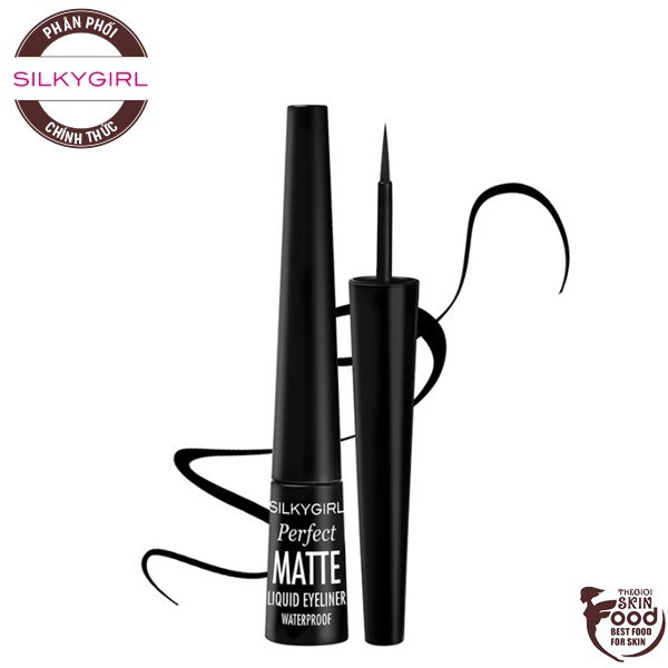 Bút Kẻ Mắt Nước Siêu Lì, Chống Lem Silkygirl Perfect Matte Liquid Eyeliner Waterproof 2,5ml