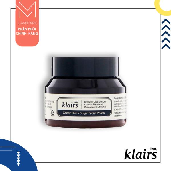Gel tẩy tế bào chết làm sạch mụn đầu đen hiệu quả Klairs gentle black sugar facial polish 60g nhập khẩu