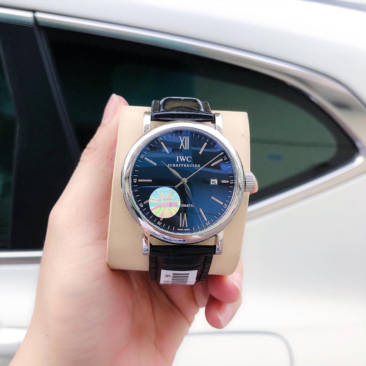 ĐỒNG HỒ NAM THỜI TRANG IWC SCHAFHAUSEN AUTOMATIC DÂY DA- SIZE 39MM - FULLBOX bán chạy