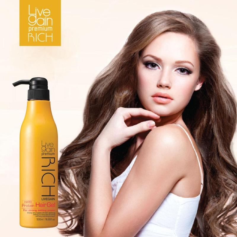 Gel Cứng Livegain Premium Rich Protein Hair Gel (Hard) 500ml Hàn Quốc giá rẻ