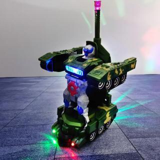 Đồ Chơi Xe Tăng Biến Hình Robot - Có Nhạc, Đèn Led rất Đẹp [Tặng kèm 03 cục Pin] thumbnail
