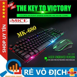 Bàn phím, Bàn phím giả cơ iMICE AK-600, Bàn phím giả cơ iMICE AK-600, chuyên Game, đèn nền LED đổi màu - Sản phẩm, Led 7 màu - Chống thấm nước, BH Toàn Quốc thumbnail
