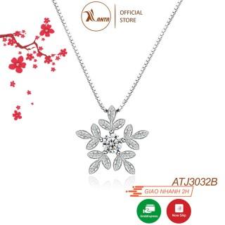 Dây chuyền bạc S925 Ý, mặt Nữ Bông Tuyết Trắng ATJ2043A -Trang Sức ANTA Jewelry thumbnail