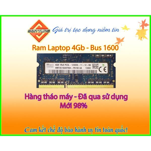 Giá Ram laptop 4Gb bus 1600 PC3 - PC3L hàng tháo máy