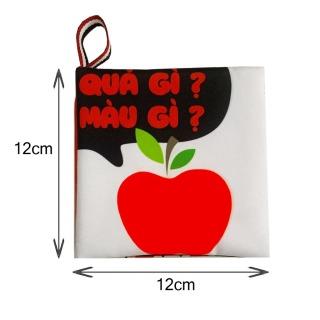 Sách vải Quả gì Màu gì - nhận biết màu sắc -song ngữ Anh Việt - Giới hạn 1 sản phẩm khách hàng thumbnail