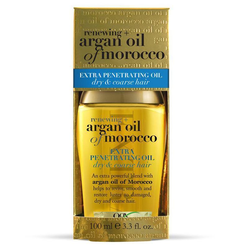 DẦU DƯỠNG TÓC RENEWING + ARGAN OIL OF MOROCCO EXTRA PENETRATING OIL - DRY & COARSE HAIR 100ml - MỸ nhập khẩu