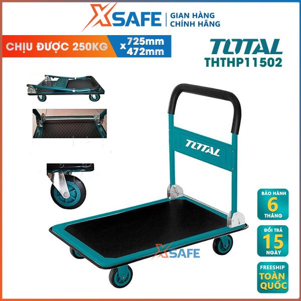 Xe đẩy hàng bằng tay TOTAL THTHP11502 có thể gập lại, với tấm lót mền và khoải mái khi cầm nắm, Bánh xe PU, sơn bột không chứa PB và UV, Tấm thảm chống trơn trợt.  - Phân phối chính hãng XSAFE